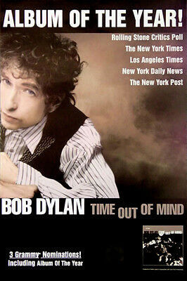Bob Dylan - Time Out of Mind (1997) original album promo poster s-sided rolled