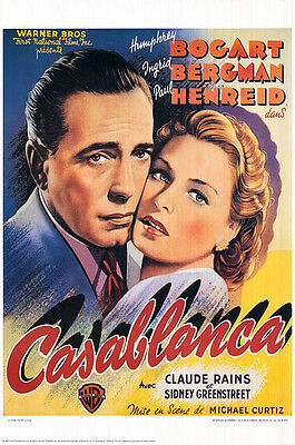 Casablanca (1942) movie poster belgium limited edition repro single-sided rolled