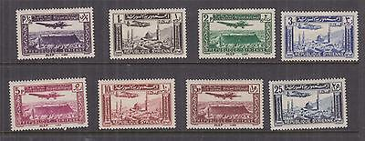 SYRIA, 1937 Airmail set of 8, lhm.