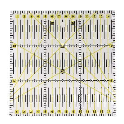 15*15cm Acrylic Material Patchwork Ruler Quilting Ruler For Clothing Design