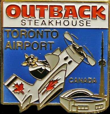 A4341a Outback Steakhouse Toronto Airport Canada Blue Background