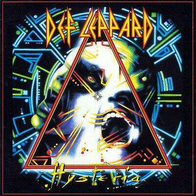 Def Leppard - Hysteria (1987) original album promo poster single-sided rolled