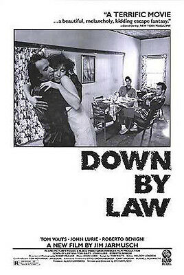 Down by Law (1986) movie poster reproduction single-sided rolled