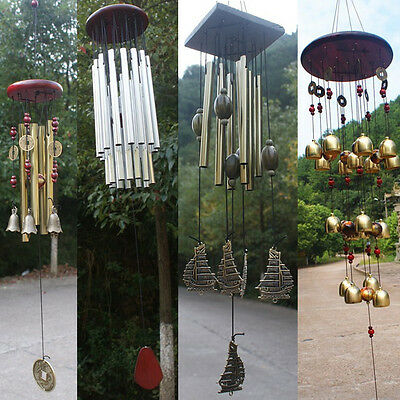 Wind Chimes Home Tubes Bell Copper Hanging Yard Garden Decor Outdoor Living Gift