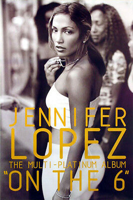 Jennifer Lopez - On the 6 (1999) original album promo poster single-sided rolled