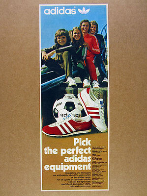 1974 Adidas Varsity & Vienna Shoes telstar football tracksuits photo vintage Ad