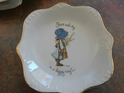 Vintage Holly Hobbie Blue Girl Pin Dish