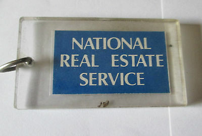 Vintage National Real Estate Service Keyring/keychain/fob