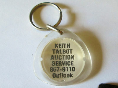 Vintage Keith Talbot Auction Service Outlook Saskatchewan Keyring/keychain/fob