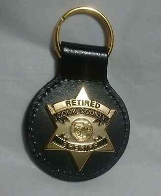 Chicago Cook County Retired Sheriff Supervisor Badge Key Chain
