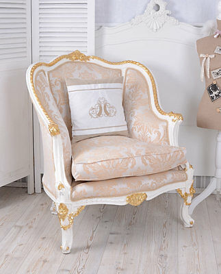 Bergere Vintage Chair Baroque Cream Gold Baroque Wing Chair Baroque Chair