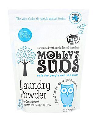 Molly's Suds Laundry Powder 70 loads  Parabens, Harsh, Synthetic & Dyes