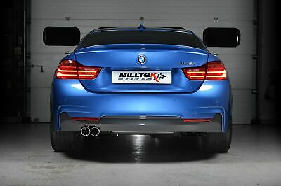 """SSXBM982 - For BMW F32 428i Coupe 2014 On Milltek 3"""" Race Downpipe & De-Cat"""