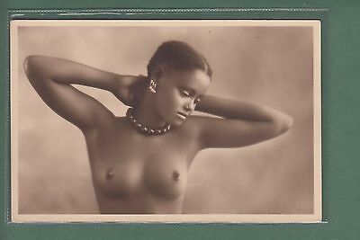 Old Photo Postcard Ethnic Nude Woman - Africa