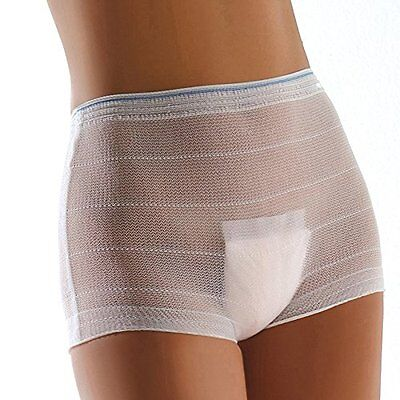 stretch pants designed to 'hold pads securely' & 'allow abdominal wounds to heal