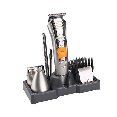 Kemei 7in1 Pro Rechargeable Electric Trimmer Hair Men Clipper Shaver Razor Set