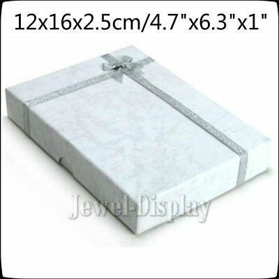 2 4 5 10 Large Jewellery White Necklace Earring Gift Ring Boxes Cardboard 12x16