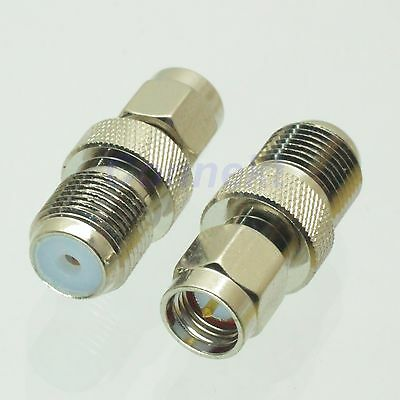 1pce F female jack to SMA male plug nickel RF coaxial adapter connector