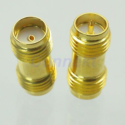1pce SMA female jack to RP-SMA female plug RF coaxial adapter connector golden