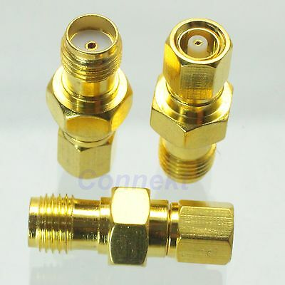1pce SMC female jack to SMA female jack RF coaxial adapter connector