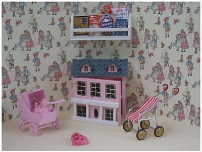 Dolls House 12th scale  6 piece Girls Pink Toys Play Set BS22