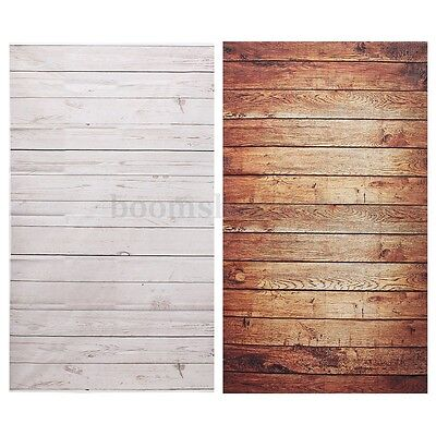 Photography Background Studio Photo Props Thin Backdrop 3X5FT Wood Grain NEW