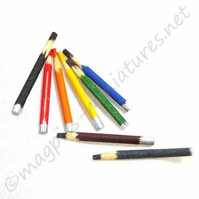 Dolls House 12th scale Pencils - pack of 8