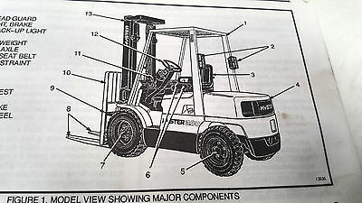 1993 HYSTER CHALLENGER FORKLIFT Operating Manual