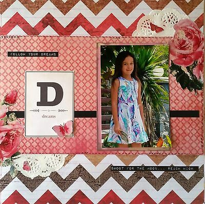 12 x 12 Handmade Scrapbook Page - Follow Your Dreams...