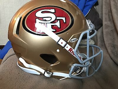 San Francisco 49ers Genuine American Football Helmet Size Large