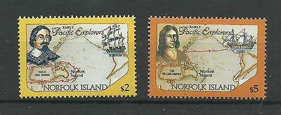 NORFOLK ISLAND 1984  Pacific Explorers $2 & $5 Top Values   umm / mnh