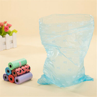 5 Color 6 Rolls Pets Dog Cats Poo Pooper Waste Scooper Scented Poop Bags