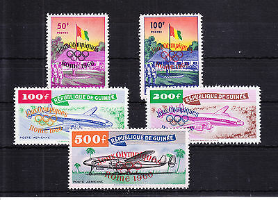 Guinea Nr. 49-53 postfrisch ** MNH, selten! Olympia Guinee -Y033
