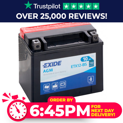 EXIDE Honda VFR 750 FV RC36 1997  Ion Battery YTX12-BS