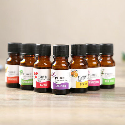 10ml 100% Pure & Natural Essential Oils Aromatherapy Scent Skin Care 12 aroma