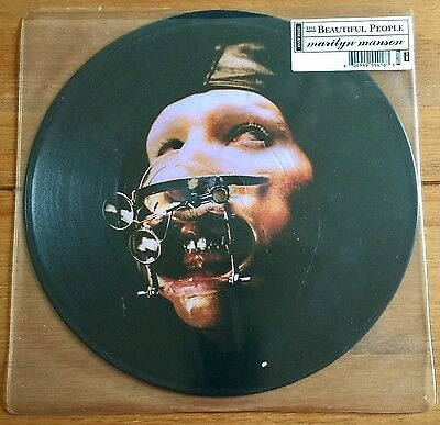 """Marilyn Manson - Beautiful People  10"""" Picture Disc Vinyl"""