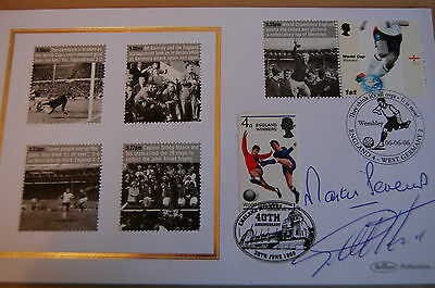 1966 World Cup 40Th Anniversary Fdc Signed Hurst & Peters