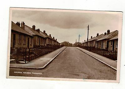Thornhill, Council House,. Old Real Photo Postcard
