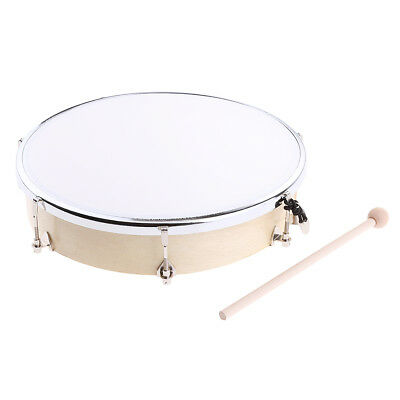 Kids Baby Music Learning Toy Tunable Hand Drum w/ Stick Key for Gift 10inch