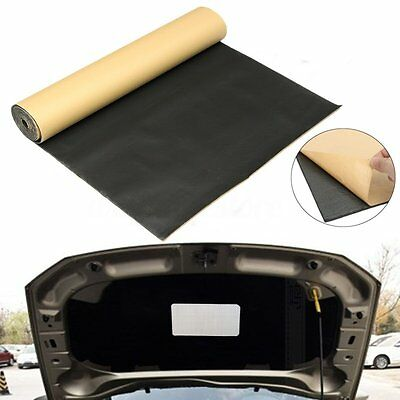 16x3FT 3mm Car Roll Sound-proofing Deadening Insulation Foam Mat Acoustic Panel