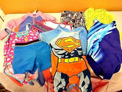 Wholesale Bulk Job Lot of Childrens used swimwear over 200 items top brands