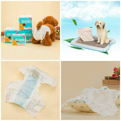 1 Pack Disposable Pet Dog Cat Puppy Diaper Leakproof Nappy Paper Pads XS-XL