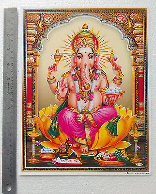 "HINDU GOD GANESHA - POSTER (Normal Paper 9""x11"")"