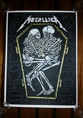 METALLICA 2017 ST LOUIS Show Poster Tour Print LITHOGRAPH Ames Bros Limited /400