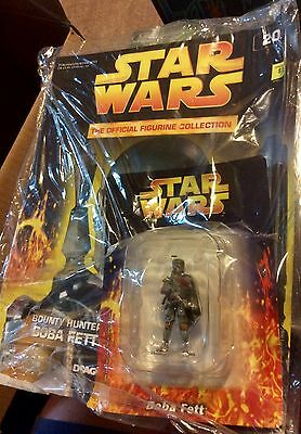 Star Wars Official Figurine Collection 20 Boba Fett Metal Sealed Figure