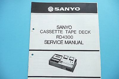 Service Manual Instructions for Sanyo RD 4300, Original