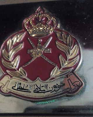 Oman National Royal Sultan Of Oman May Be Army Belt Buccal Nice Condition.