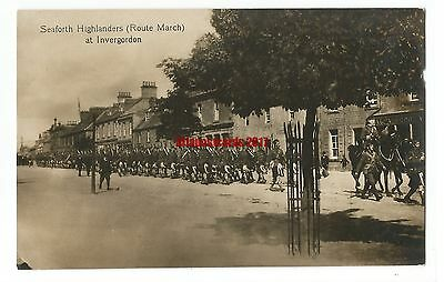 Scotland Invergordon Seaforth Highlanders Route March Real Photo Vintage PC 8.6