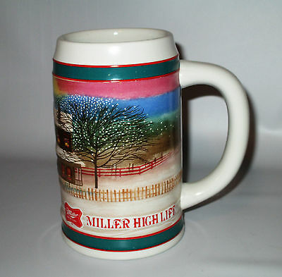 Miller High Life To the Best Holiday Traditions Christmas Stein Tankard USA Made