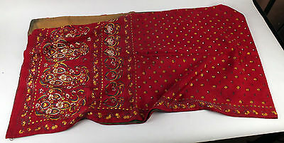 Antique Chinese Hand Embroidered Textile Silk Band Embroidery